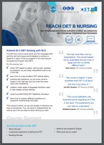 Reach OET B Nursing Syllabus